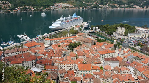Kotor Old Town and Cruise Ship, Montenegro