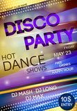 Fototapety Night club disco party poster