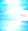 Technology concept abstract banner set