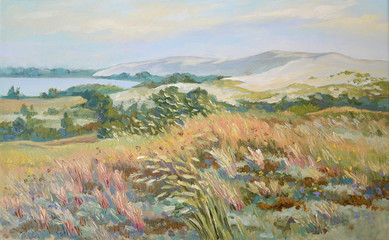 "Picture ""Baltic Herbs"". Canvas, oil"