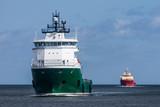 Cargo Ships entering harbour