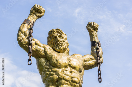 Statue of Prometheus with Broken Chain