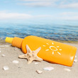 Summer sunbath on the beach