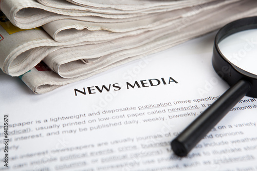 document with the title of news media