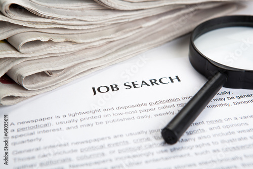 document with the title of job search
