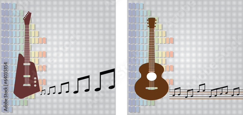 guitar and equalizer background vector