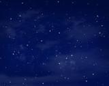 Fototapety Stars in a night blue sky