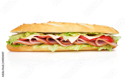 Papiers peints Snack Fresh sandwich with meat and vegetables