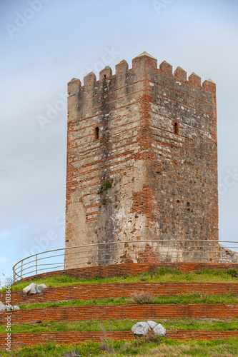 Ancient fortress tower monument in Tangier, Morocco
