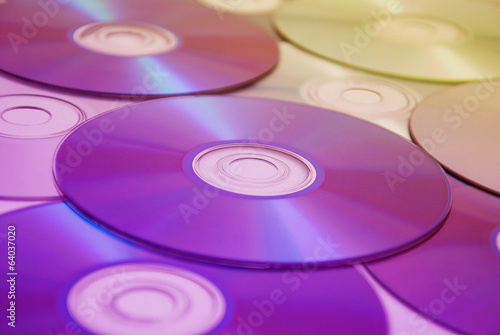 a lot of compact disks
