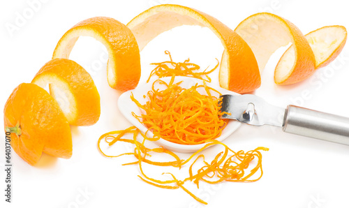 Zest and peel of orange