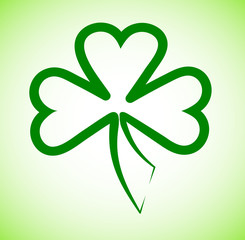 shamrock leaf of a clover for design