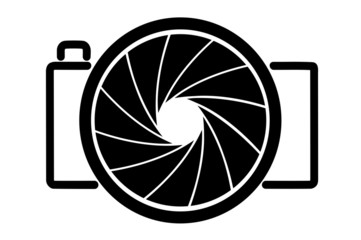 abstract symbol of a camera
