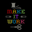 Embroidery, Make it Work Fashion Background Rainbow Cross Stitch