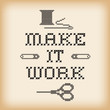 Embroidery, Make it Work Fashion Background, Cross Stitch