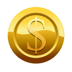 Golden icon with dollar symbol (Path preserved around button)