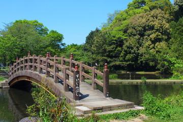 八景水谷公園 水神橋