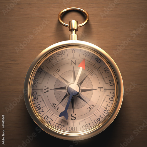 Compass with clipping path included.