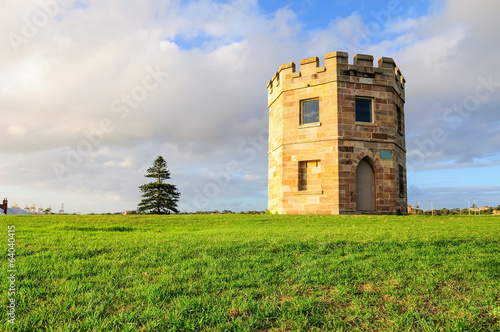 La Perouse's 19th century Customs tower on sunset