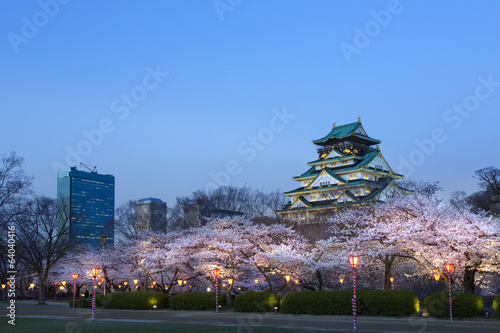 Plakat 大阪 城 夜 桜