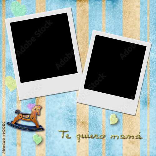 Sentence te quiero mama, love you mom in spanish, two Instant Ph