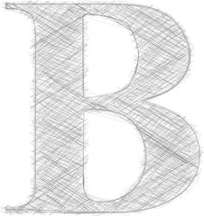 Freehand Typography Letter B