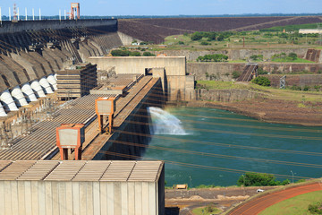 Hydroelectric dam Itaipu, Brazil, Paraguay