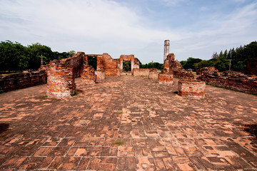 Historic gates at ayutthaya, thailand