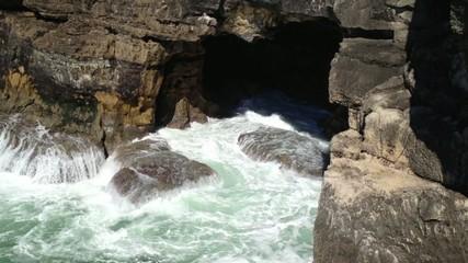 Landscape of cliffs at Cascais, Portugal