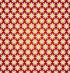 Vector abstract flower seamless pattern with ethnic ornament
