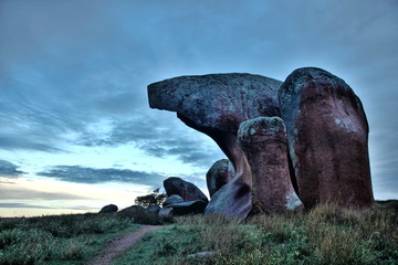 Granite boulders in Australian outback
