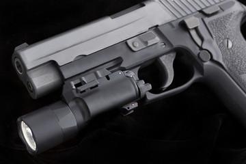 handgun with light