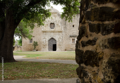 Church entry in mission San Jose, San Antonio