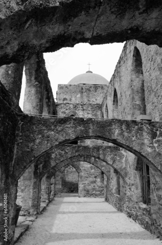 Ruins of arches  in mission San Jose, San Antonio, Texas