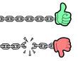 Hand symbol chain