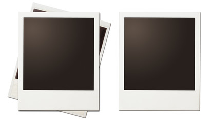 retro instant photo polaroid frames isolated on white