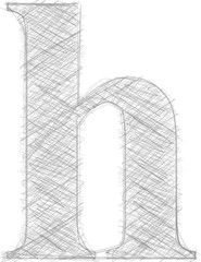 Freehand Typography Letter h