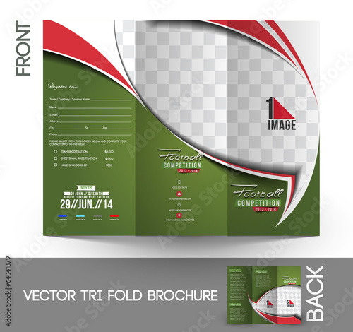 Football Competition Tri-Fold Brochure Design.