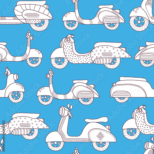Bikes seamless pattern