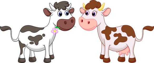 Cow cartoon