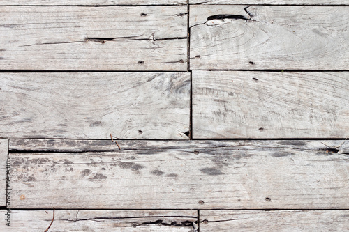 Old wooden wall (white background)