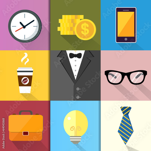 Business Suits Icons Set