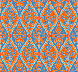 blue and orange seamless pattern