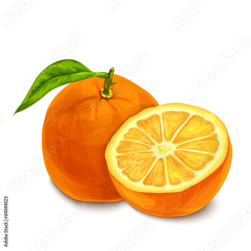 Orange isolated poster or emblem