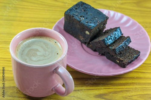 hot milk cocoa and chocolate cake