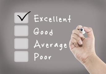 Evaluation checklist board