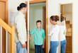 Parents meeting with scold of teenage son