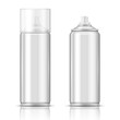 Blank aluminium spray can template. - 64045048