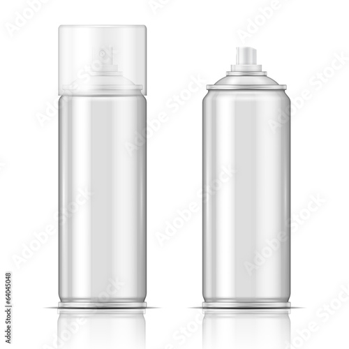 Blank aluminium spray can template.