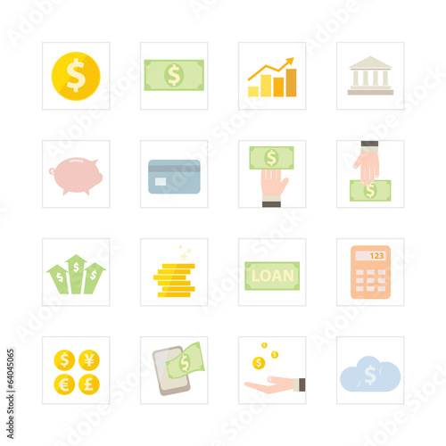 Finance and Banking icon set.
